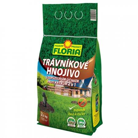 Trávníkové hnojivo s odpuzujícím účinkem proti krtkům 2v1 2,5kg