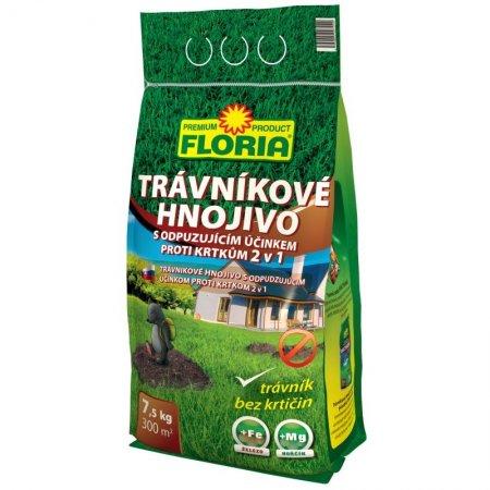 Trávníkové hnojivo s odpuzujícím účinkem proti krtkům 2v1 7,5kg